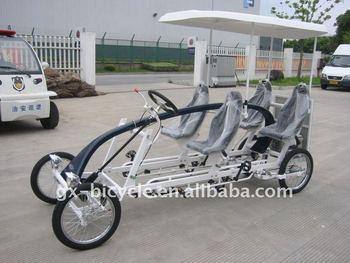 Four Wheels Pedal Car Buy White Four People Surrey Bike Four