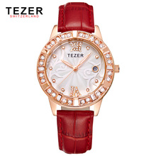 2017 Best Selling Top Quality Classical Tezer 2012 Men Watches Genuine Leather Strap Wrist Watch