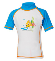 Kids Children Rash Vest Rash Guard Factory Manufacturer UPF50+ Swim Shirt