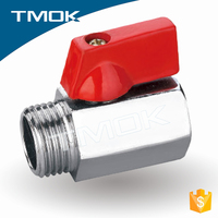 high quality brass natural mini ball valve male connection stinless stell iron handle with full port in tmok