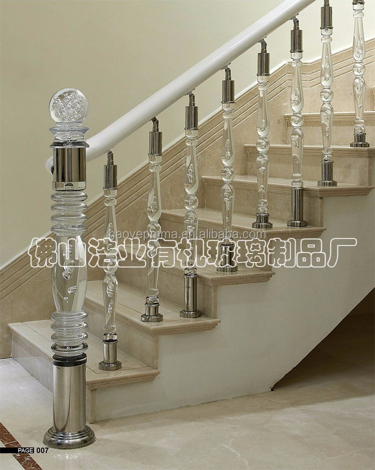 HAOYE acrylic crystal ball for stair baluster railings column