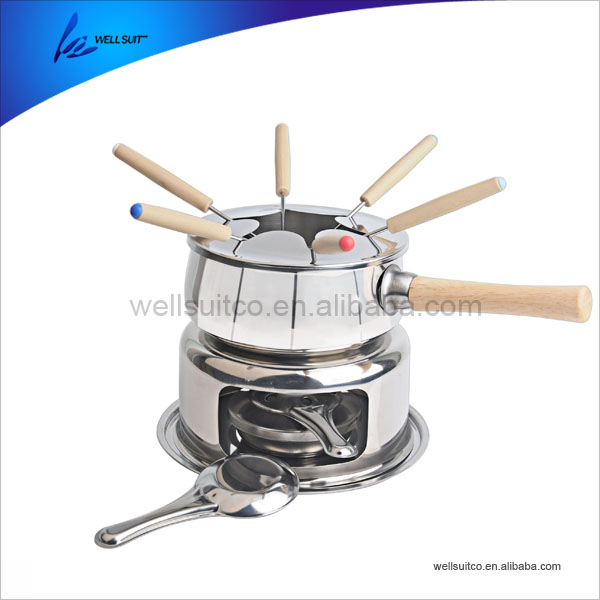 Non-stick Rvs Fondue Set Kaas & Chocolade Fondue Set