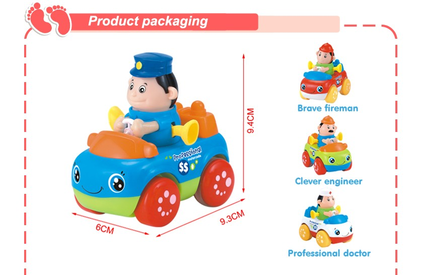 Huile kids construction truck toys cartoon plastic mini friction toy cars
