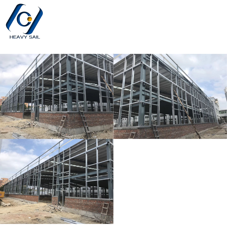Factory earthquake resistant workshop and warehouse building steel structure construction