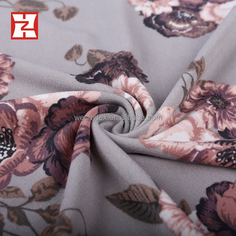 japanese print fabric textiles korean crepe standard knit 95% polyester 5% spandex fabric