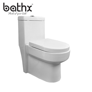 Chaozhou manufacturer Single Piece Bathroom Ceramic Middle East Toilet with siphon jet flushing