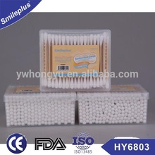 Bamboo stick cotton swab/Bamboo cotton bud in PP box /Manufacturer with CE FDA approved