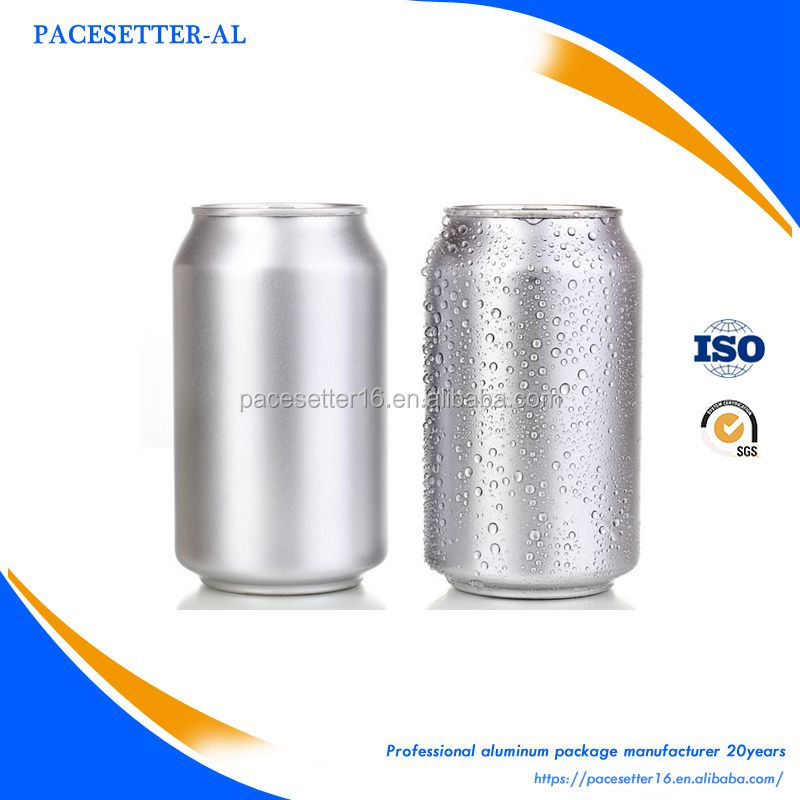 empty 330ml aluminum can for beverage/beer/energy drink