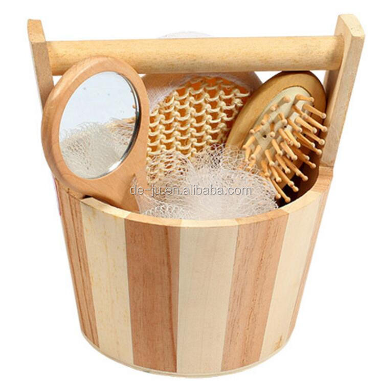 Fabric Square Basket Bath Set New Year Gift Set