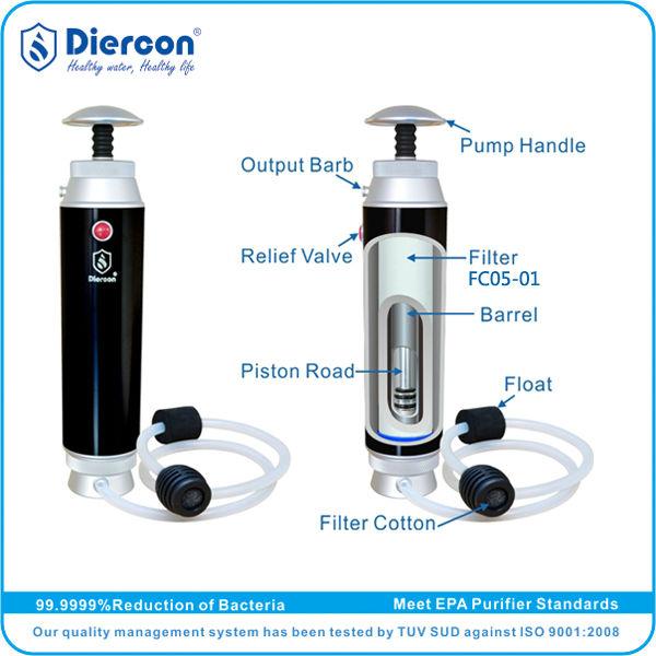 f525f28e6a B-Hot Sale outdoor sports water purifier Diercon trekking water bottle mini outdoor  water bottle purifier food grade(KP01-01), View outdoor sports water ...