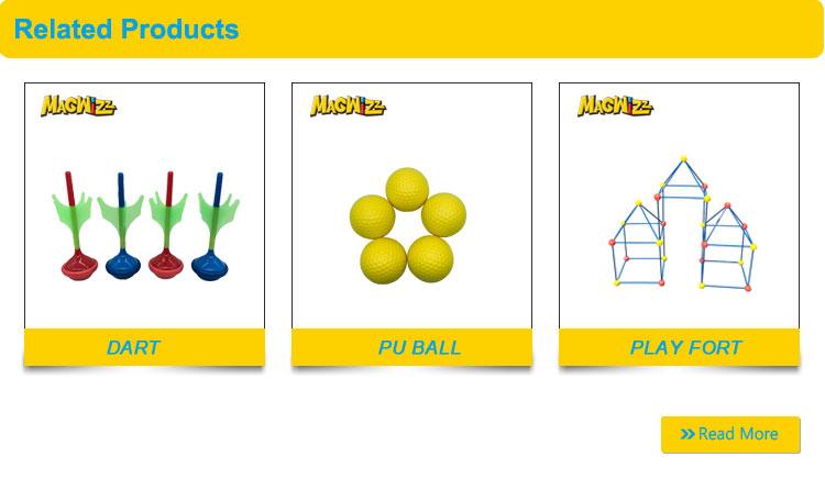 Super Cool plastic raket speelgoed custom stress ballen missile speelgoed dart games