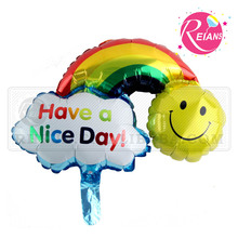 Reians customized baloon Rainbow Smiling face cloud shape balloon ballon Party Decoration Supplies (Accept OEM,ODM)
