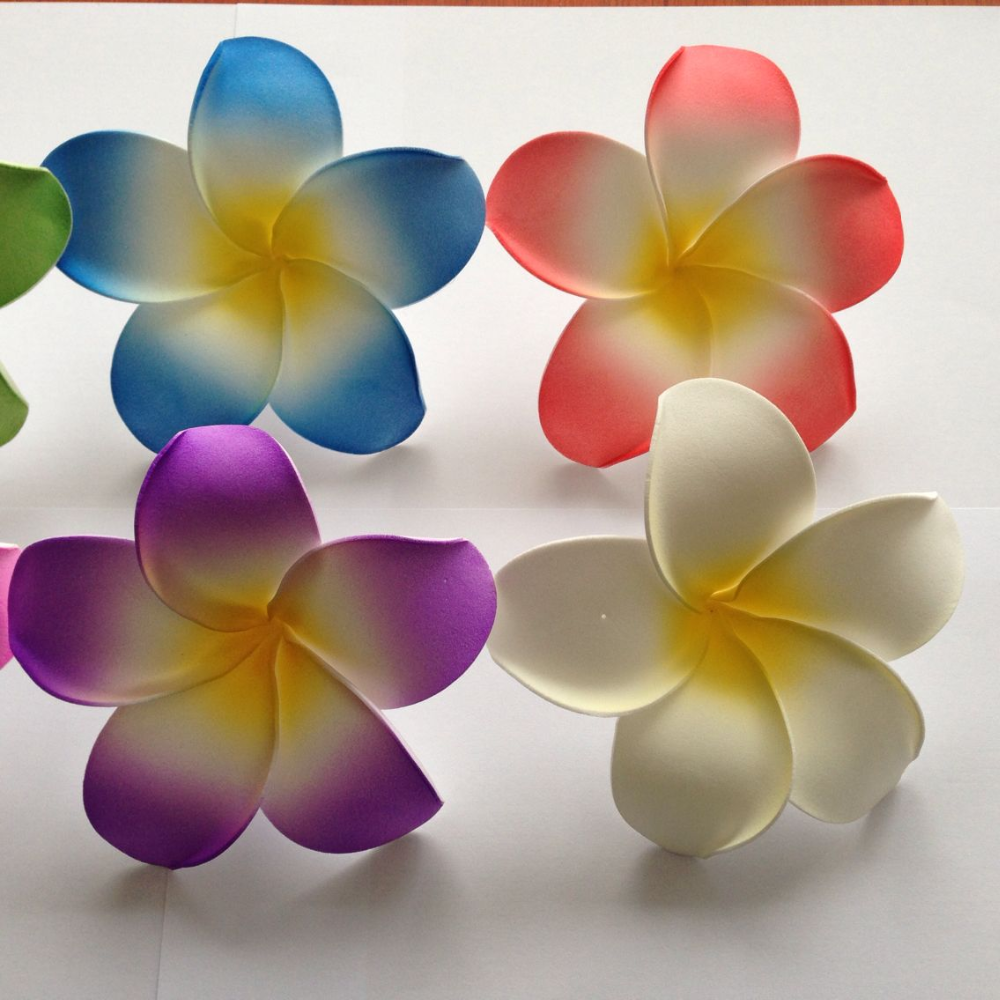 Artificial Foam Plumeria Hawaiian Frangipani Flower Buy Foam