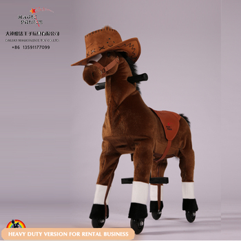 New rental toy mechanical horse riding toy for the malls, ride on mechanical pony on cycle system