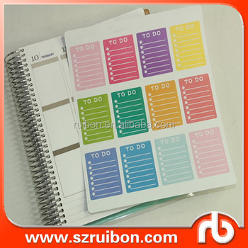 12 pcs per sheet to do list to buy shopping list work schedule
