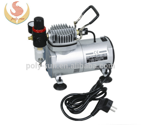 ac mini luchtcompressor airbrush compressor voor tatoo make-up dh18k-2( gs, ce, RoHS, ETL, CETL)