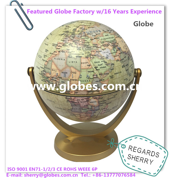 10.6cm Mini World Globe Rotating Globe