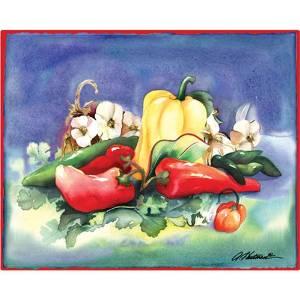 "Magic Slice Non-Slip Flexible Cutting Board, Gourmet Size 12"" x 15"", Pepper Medley by Amy Hautman"