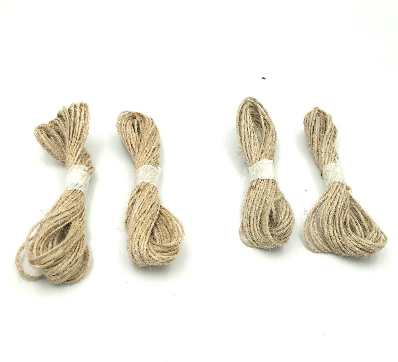 YYaaloa 32.8ft Long Colorful Nylon Hemp String Clothes Rope Line Best Arts Crafts Gift Twine Hemp Rope Christmas TwineFor Gift Wrap Decorative DIY Twine String (4 set Jute Twine)