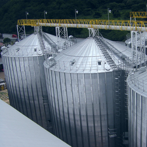 Steel 10000ton wheat storage grain silo cost