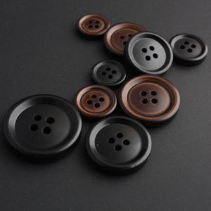 2015 fashion high quality brand name buttons black big coat shirt blouse button 30mm