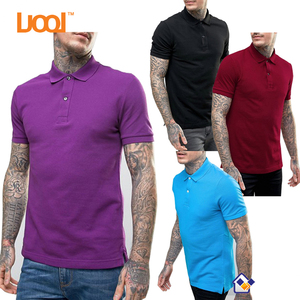 Custom Logo Print Men's T Shirt Uniform Golf Polo Shirt
