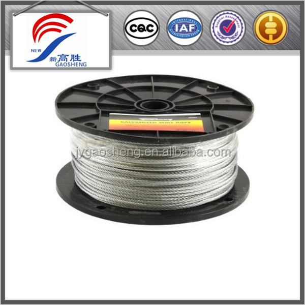 7*19 2mm-30mm Factory Price galvanized steel wire rope