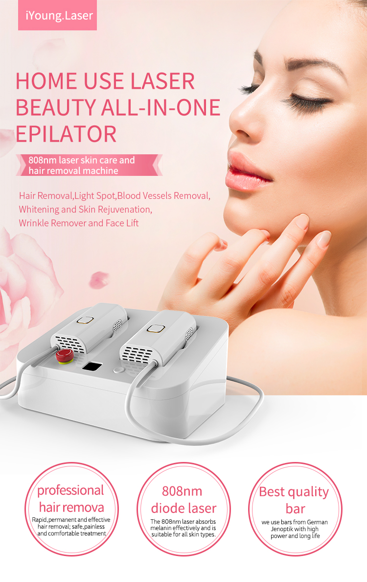 2019 hot sale mini spa home use diode laser hair removal device epilator