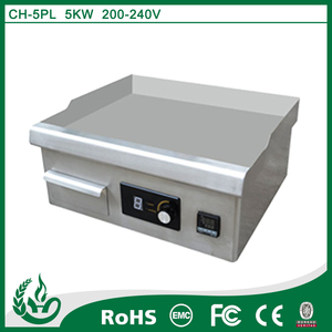Mini type electric induction cast iron griddle