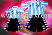 Youth /Kids Argentina Messi Soccer Jersey & Free Shorts