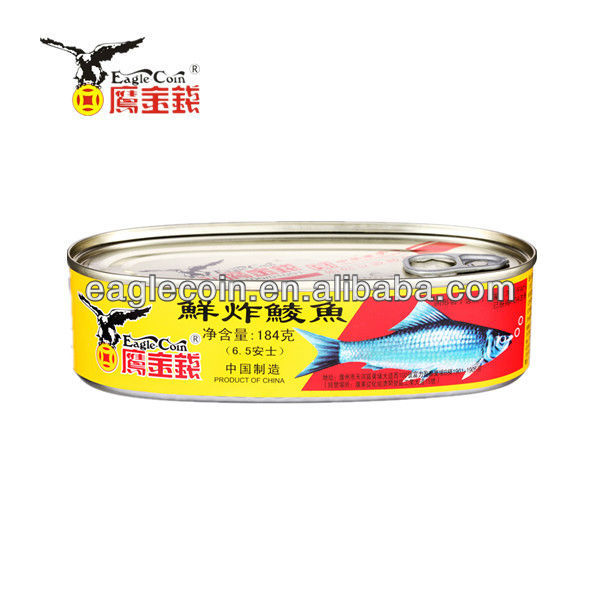 Eagle coin Gold Metal Canned Fish Fried Dace