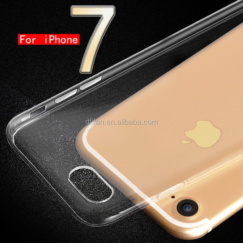 Alibaba China phone case supplier Ultra-thin clear case for iphone 7 , for iphone 7 tpu transparent case
