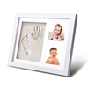 Baby Photo Frame with Baby Hand Print Kit Clay Baby Foot Print Picture Frame