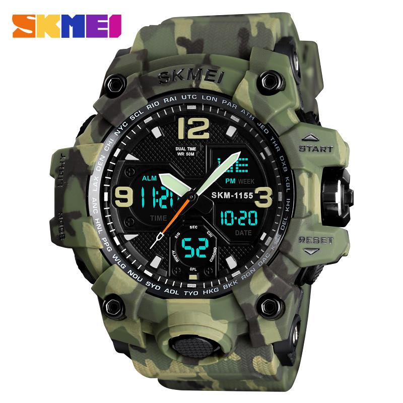 top selling china factory watches sport digital waterproof chrono alarm jam tangan skmei watch men wrist, Black/blue/red/gold/camo/denim blue/denim black/gray black