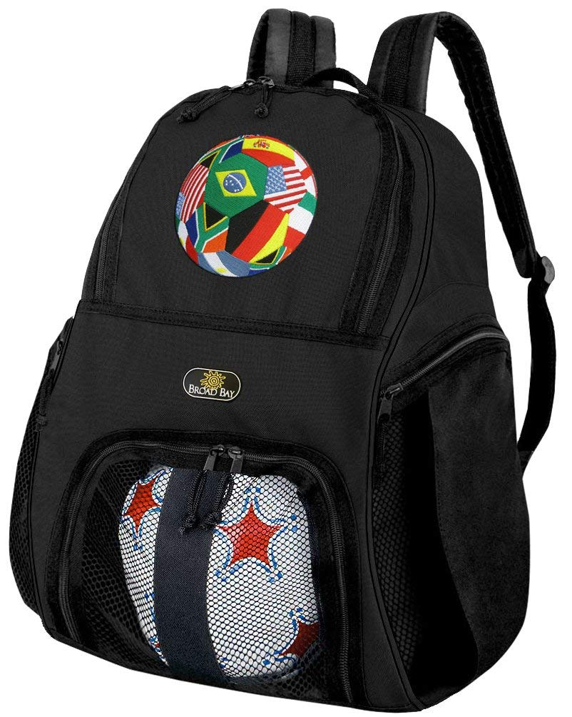Get Quotations · Broad Bay Soccer Soccer Backpack or World Cup Fan  Volleyball Bag ff74e9818b