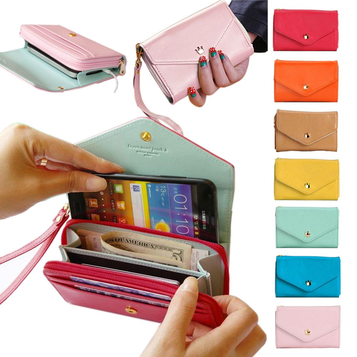f4bcd6da27832 Satın Al Kadın \ 'ın Moda Deri Çanta Telefon Cüzdan Muhtasar Cüzdan ...