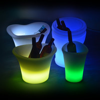 Clear Plastic LED Flashing Ice Bucket /shenzhen Lincond ice bucket (LD-B222)