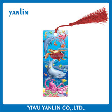 2017 3D lenticular plastic bookmark of dolphin new hot product