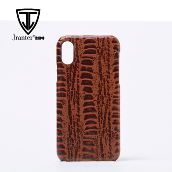 Custom Printed Cow Leather Phone Case, China Genuine Cow Leather Cell Phone Case Manufacturer