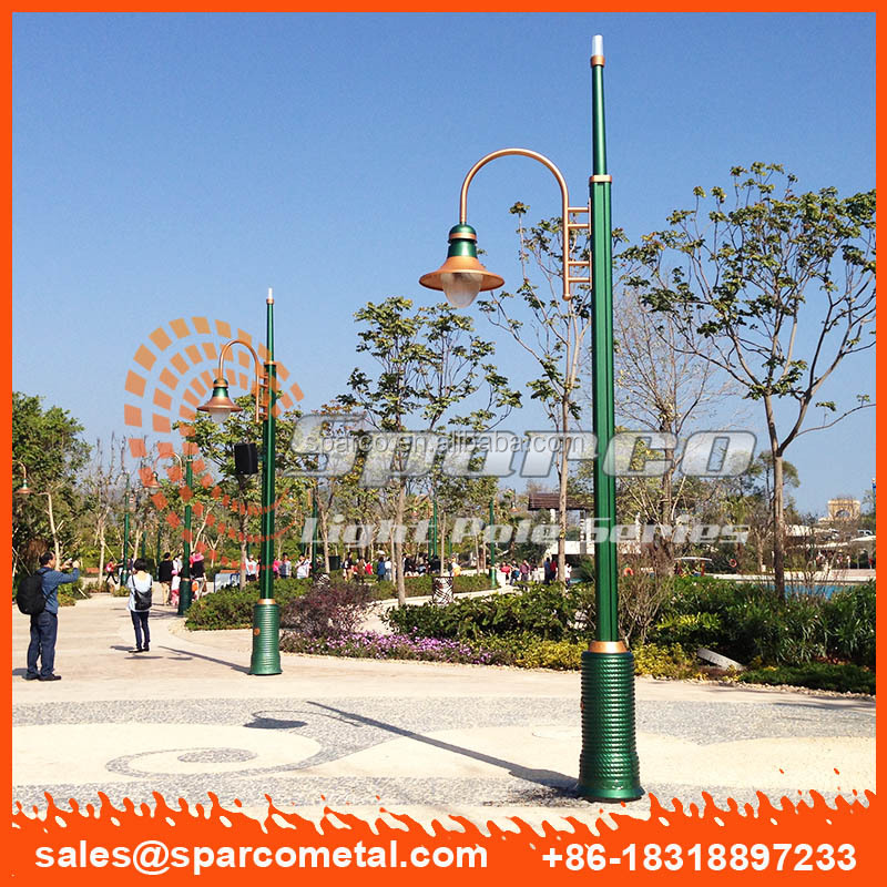 green anodize led street light pole light with rotating base