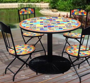 Tavoli Mosaico Da Giardino.Messico Giardino In Stile Tavolo Da Pranzo E Sedie Esterno In Ferro