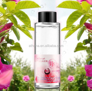 Natural pure rose water with rose