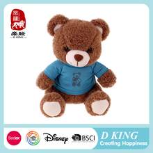 China Factory Direct Plush Animal Stuffed Toys Teddy Bear In T-Shirt