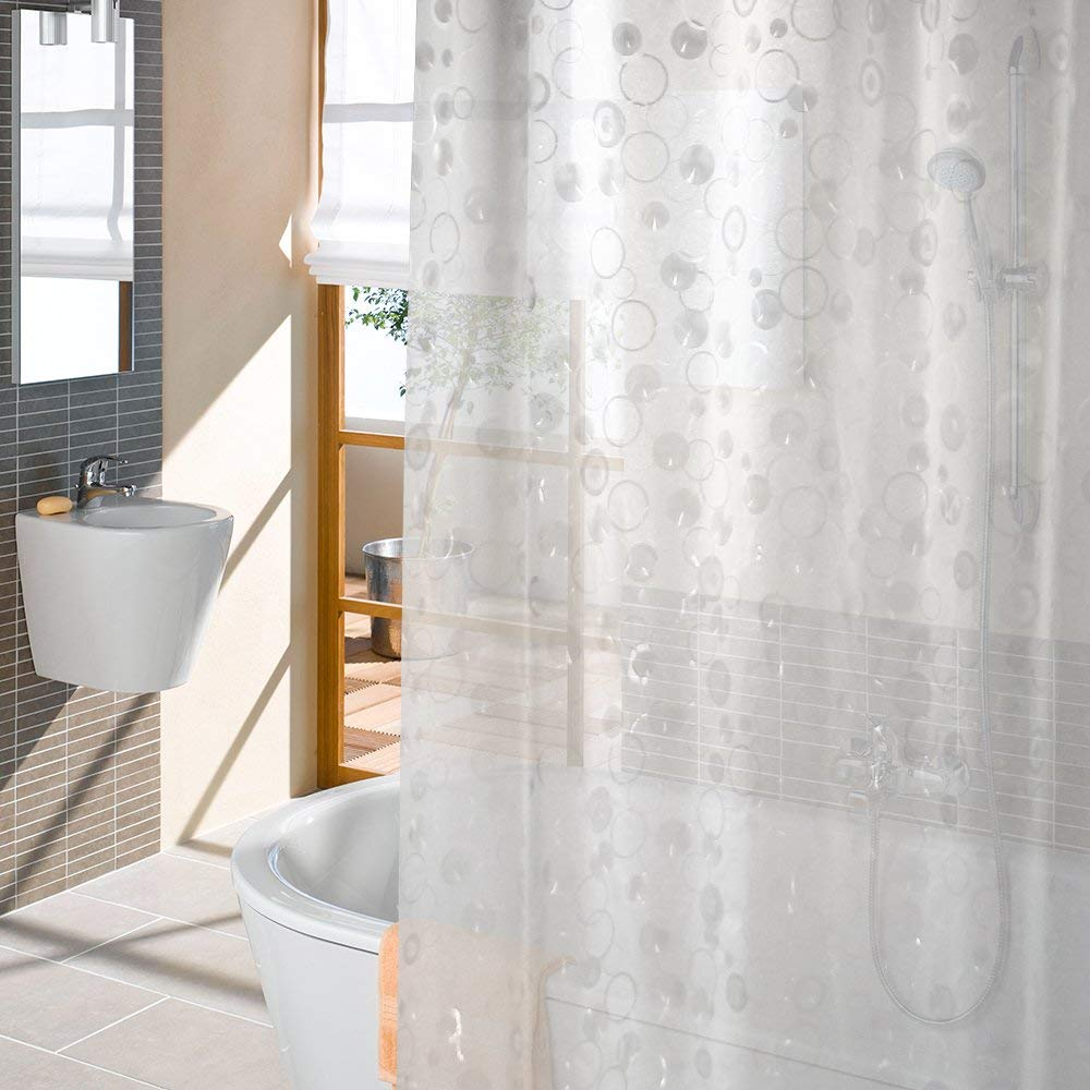 Get Quotations Shower Curtain Liner Anti Bacterial With Magnets Mildew Resistant Curtains Water Repellent For