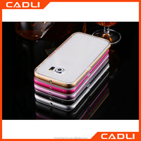 China Supplier Hot Selling Phone Accessories TPU Back Aluminum Metal Frame Phone Case for Samsung s6 edge