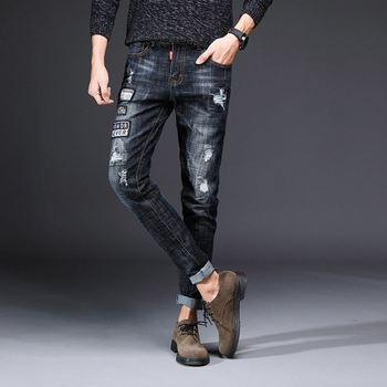 Ripped jeans mens fashion black denim jeans mens tan jeans mens