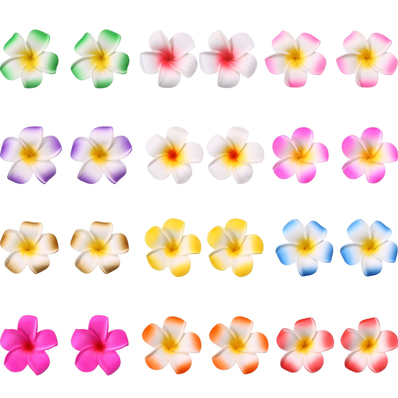 Cheap india hawaiian foam flower hair clips find india hawaiian get quotations mudder 24 pieces hawaiian plumeria flower hair foam hawaii hair clips 2 inch izmirmasajfo