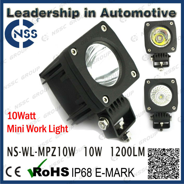 IP68 2x2 inch 10w led work light headlight for motorcycle,bike and tractor,LIFETIME WARRANTY