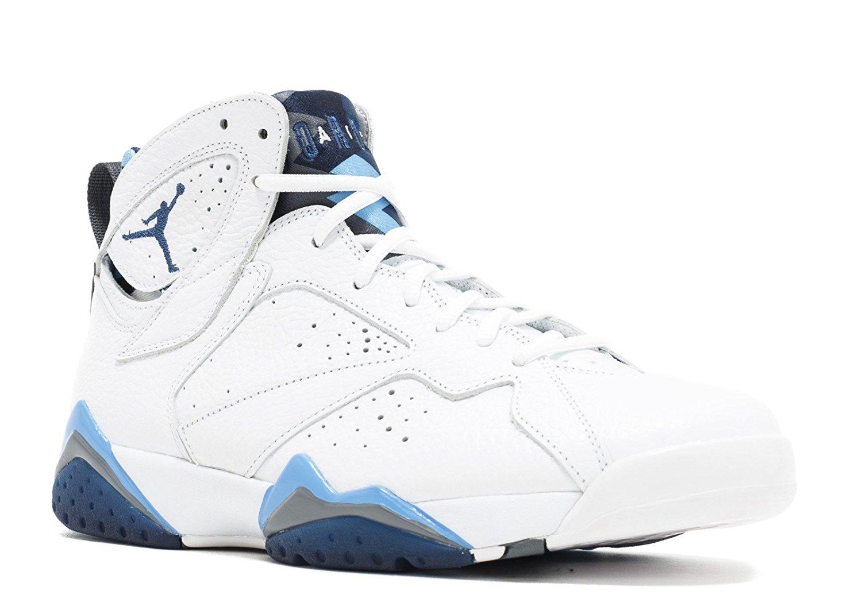 a7da670666cbc6 Get Quotations · Jordan Air 7 Retro French Blue Men s Shoes White Frech Blue -University Blue-