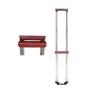 JX8137 wholesale telescopic handle parts aluminium pull plastic trolly luggage trolley handle manufacture